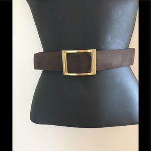 Elite Tahari Sueded Leather Belt. 34.